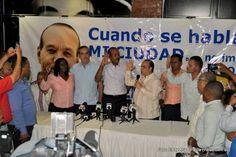 Luis Abinader proclama a José Montás candidato a alcalde en San Cristóbal