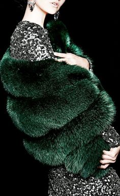 I need a green mink stole