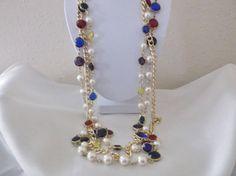 Vintage Retro Multi Color Bezel Beads Faux by MemawsTopDrawer