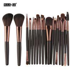 18Pcs/pack Makeup Brushes Tool Set Power Eye Shadow Foundation Blush Blending