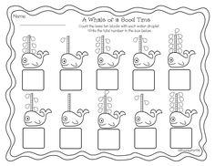 Printable end of the year/ summer math activities for kindergarten, prek, and preschool. Base ten practice.