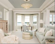 I Love Painted Ceilings They Show Diffe Examples Of Here Tray Ceiling Paint Benjamin Moore Revere Pewter On Walls Gull Wing Gray