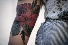Alice Carrier elbow tattoo. I LOVE her work.