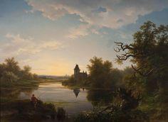 Pieter Lodewijk Kuhnen: Lonesome Fisherman at Twilight
