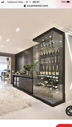 Glass Wine Cellar, Home Wine Cellars, Wine Cellar Design, Kitchen Room Design, Modern Kitchen Design, Dining Room Design, Küchen Design, House Design, Home Interior Design