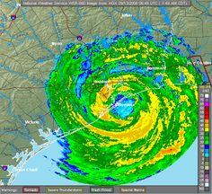 Hurricane Ike making landfall near Galveston, TX in 2008 Galveston Texas, Galveston Island, Hurricane History, Texas Weather, Loving Texas, Clear Lake, Texas History, Texas Travel, My Heritage