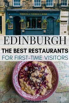These Edinburgh restaurants are perfect for your first trip to the city. If you're planning a trip to Scotland and wondering where to eat in Edinburgh, check out this list of the best restaurants in Edinburgh Scotland for first time visitors. #edinburgh #scotland #europetravel #uktravel via @theportablewife