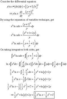 Answer to Solve the given differential equation by separation of variables. Geometry Formulas, Math Formulas, Math Tutor, Math Skills, Math Formula Chart, Differential Calculus, Statistics Math, Maths Solutions, Math Notes