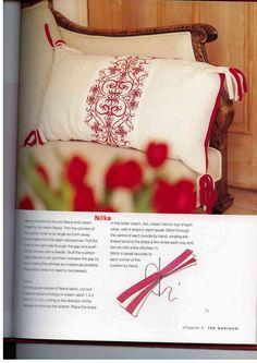 Helena Turvey red & white cross stitch