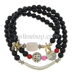 Schwarzer Achat Armband