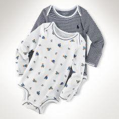 Cotton Bodysuit 2 Pack Baby Boy One Pieces Ralphlauren Com