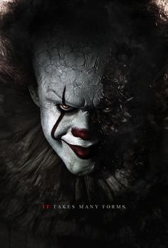 "Here's a poster of the new Pennywise. He will be played by Bill Skarsgard and will appear in the 2017 adaption of Stephen King's ""It"". Stephen King's It - Pennywise Poster Clown Pennywise, Pennywise Poster, Pennywise The Dancing Clown, Pennywise Tattoo, Horror Movie Posters, Horror Movies, Comedy Movies, Le Clown, Creepy Clown"