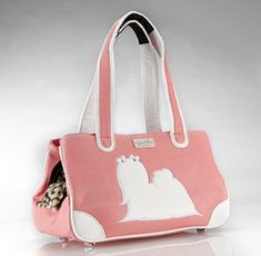 PUPPY LOVE COUTURE Maltese, Side Purses, Love Couture, Animal Silhouette, Dog Carrier, Black Faux Leather, All In One, Puppy Love, Pink