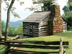 Image detail for -Log Cabin, Blue Ridge Parkway, Virginia | Images to Desktop Houses ...