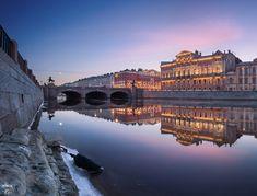 Дворец Белосельских-Белозерских, Аничков мост, река Фонтанка, весна, город