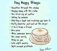 Simple things that can bring us joy.