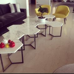 Marble table apprt in beyrouth