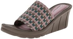 Skechers Cali Womens PromendaeShopper Slide Sandal TaupeSilver 7 M US >>> You can get more details by clicking on the image.