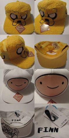e380f60ccca Adventure Time Hat Cap SET 2 HATS!!! Jake and Finn Snapback Costume Trucker  Hat  AdventureTime  BaseballCap