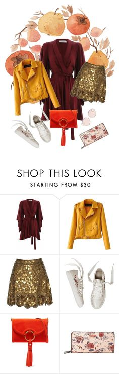 """""""Pomegranate"""" by ladyakbar ❤ liked on Polyvore featuring Zimmermann, Matthew Williamson, Tory Burch, MANGO and N°21"""