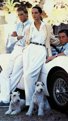 A trio of models channel vintage Monaco in this Ralph Lauren campaign. 23 Iconic Moments From Ralph Lauren on Yahoo Style Ivy Style, Mode Style, Looks Chic, Looks Style, Ralph Lauren Style, Polo Ralph Lauren, Ralph Lauren Fashion, Ralph Lauren Looks, Ralph Lauren Outfit