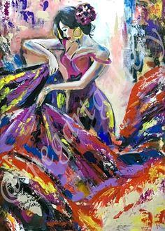 Artist: Kratimenou Konstantina Title: flamenco 50x70dim mixedmedia price:550euro Joomla Templates, Fingerprints, Gallery, Painting, Flamenco, Painting Art, Paintings, Thumb Prints