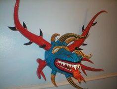 Blue Dragon Vejigante Festival Mask (Puerto Rico)