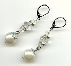 OOAK Repurposed Pearl Crystal Bead Rhinestone by holyinspired