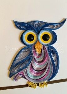 Quilled owls by Mainely Quilling.
