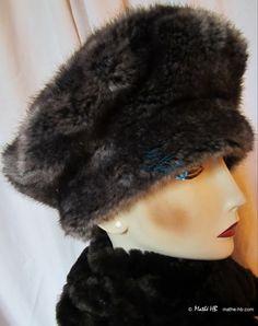 chapeau hiver, fausse-fourrure sublime imitation loup gris cendré, 58-59-cm /L : Chapeau, bonnet par mathe-hb                                                                                                                                                     Plus