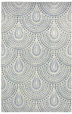 Williamsburg Bowden scallop rug in blue bell, designed By Capel Rugs (via Stylyze) Motifs Textiles, Textile Patterns, Textile Prints, Textile Design, Lino Prints, Block Prints, Pretty Patterns, Beautiful Patterns, Color Patterns