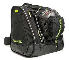 Black  amp  Green Ski Boot Bag with a sweet helmet sling f1b28c9d79882