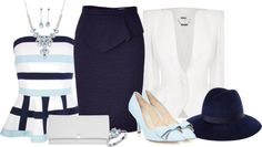 """Shades of Blue"" by laaudra-rasco ❤ liked on Polyvore"