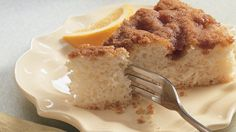 Enjoy this delicious cinnamon coffee cake with streusel topping that's ready in 35 minutes.