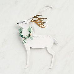 Paper Reindeer Gift Tag