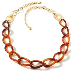 """R.J. Graziano """"Uptown Girl"""" 35"""" Resin Link Necklace at HSN.com."""