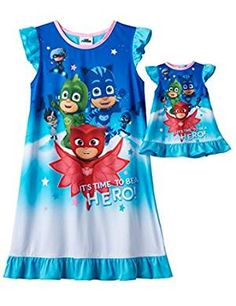 Pj Little Girls Nightgown Pajamas. -- Read more reviews of the product by visiting the link on the image. (This is an affiliate link)