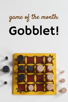 Gobblet! is a fun strategy game, like tic tac toe on steroids.