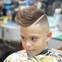 IG @Barberobengie cute kids hair cuts hairstyles faux hawk spiked with hard part