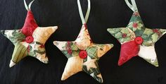 These Will be Wonderful in Many Color Combinations! These patchwork star ornaments are easy to make and super charming. Depending on how large you make them, they can be hung on a tree or just about anywhere around the home. They will also be lovely attached to wrapped gifts, stuffed into stockings and wrapped up …