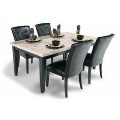 This Contemporary Diningroom Set Looks Like It Belongs In The Hoity Toity Store With An Unheard Of Price Tag