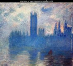 Houses Of Parliament Westminster - Claude Monet