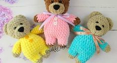 Amigurumi bear in sweater pattern | Amiguroom Toys