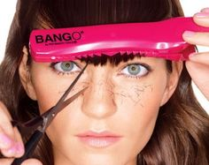 How to Trim Your Own Bangs - The Bango Hair Cutting Kit ($16, at Ulta) comes with a long clip that holds your bangs as you cut, making it easier to lop off an even amount from both sides. Plus, the notches give you slightly choppy, sexy bangs.