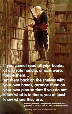 If you cannot read all your books...