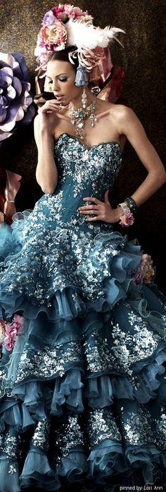 Stella de Libero Fairytale Dress, Fantasy Dress, Elegant Dresses, Pretty Dresses, Beautiful Gowns, Beautiful Outfits, Dream Dress, Stella Dresses, Ball Gowns