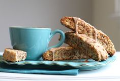 Grape Nuts Biscotti with Cinnamon Frosting