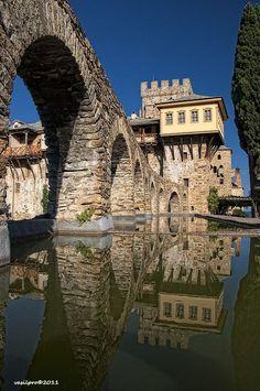 Monastery Stavronikita, Mount Athos, Halkidiki - Hellas, Greece by Vasilpro Albania, Mykonos, Places To Travel, Places To See, Places Around The World, Around The Worlds, Beautiful World, Beautiful Places, Patras