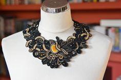Stardust - soutache necklace by JoannaArt77 on Etsy