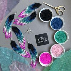 Beaded Earrings Patterns, Diy Earrings, Fringe Earrings, Beading Patterns, Beaded Bracelets, Beading Ideas, Seed Bead Patterns, Beading Tutorials, Bracelet Patterns